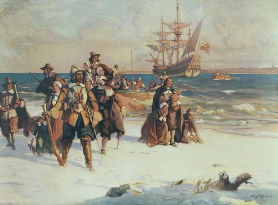 puritans arrive on the mayflower