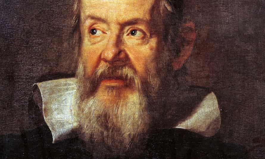 Detail from Justus Sustermans's 1636 portrait of Galileo Galilei.