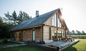 Päikese log cabin, on Saaremaa island, Estonia.