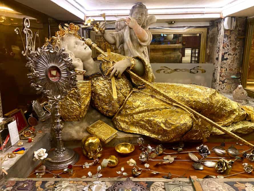 The statue of Saint Rosalia, in the Sanctuary of Monte Pellegrino in Palermo.