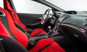 Sitting pretty: the Type R's bucket seats are a struggle to get into.