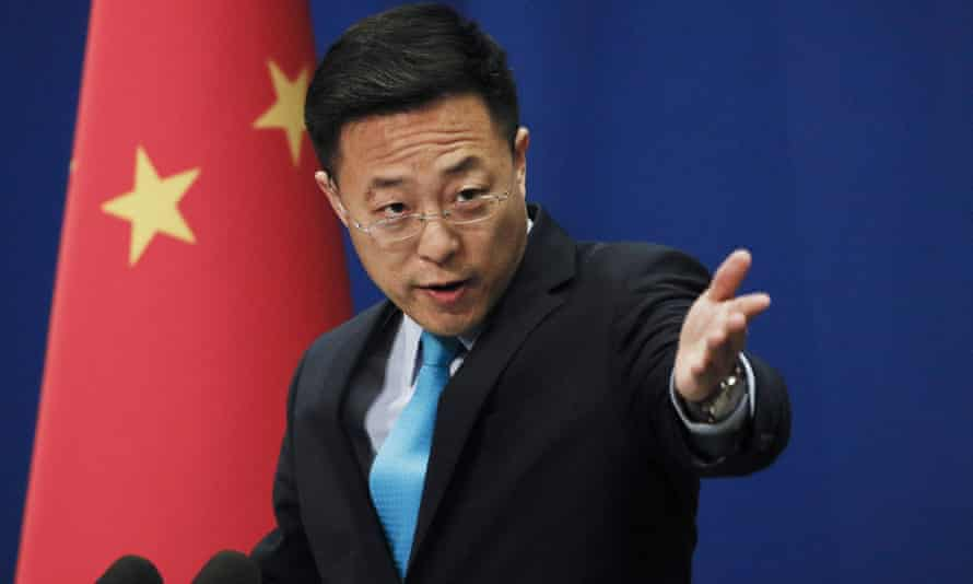 Chinese foreign ministry spokesman Zhao Lijian says 'some individual politicians in Australia' were making 'extremely irresponsible' statements.