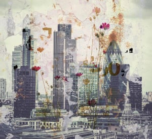 Wild Flowers of LondonLayered Photomontage Image by Steven Irwin. Exploring Themes of Decay and Renewal Artwork: Stephen Irwin/GuardianWitness