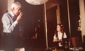 A mosaic of reminiscences … Ariana Neumann, with her father, Hans, in 1978.