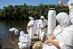 Baptism is the principal ceremony of the Mandaean religion and may take place only in a free-flowing freshwater river.
