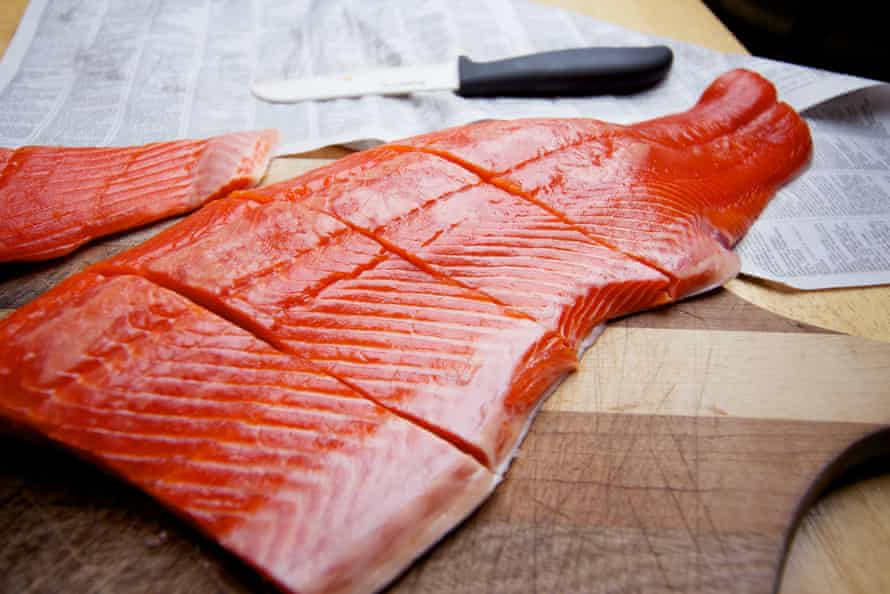 A side of wild sockeye salmon.
