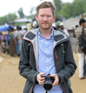 Ian Woolverton in Cox's Bazar.