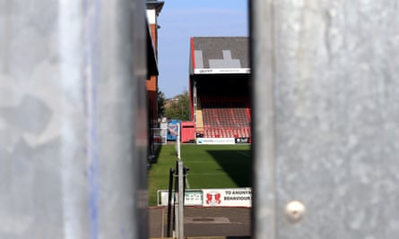 A view inside the closed doors at Leyton Orient.