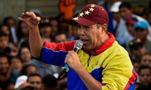 Henrí Falcón, the Venezuelan opposition presidential candidate, at a rally.