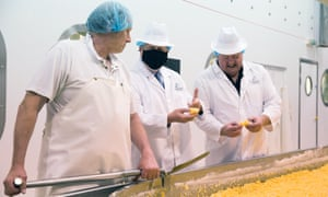 Boris Johnson on a visit to Orkney Cheese.