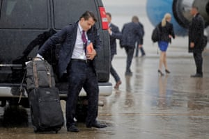 Anthony Scaramucci arrives at Joint Base Andrews