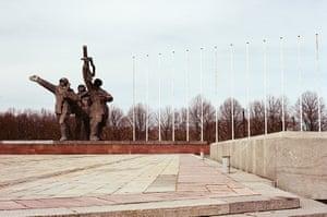The Soviet-era Pārdaugava victory monument, Riga