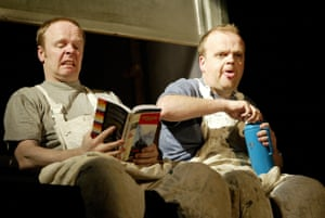 The Dumb Waiter and Other Pieces Jason Watkins and Toby Jones in What's Your Trouble, directed by Douglas Hodge, Oxford Playhouse, 2004.