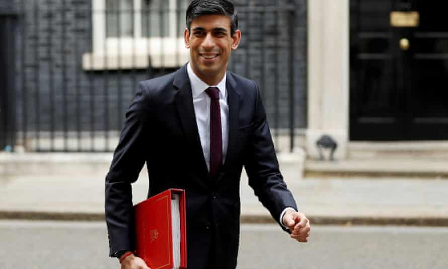 Chancellor Rishi Sunak outside Downing Street