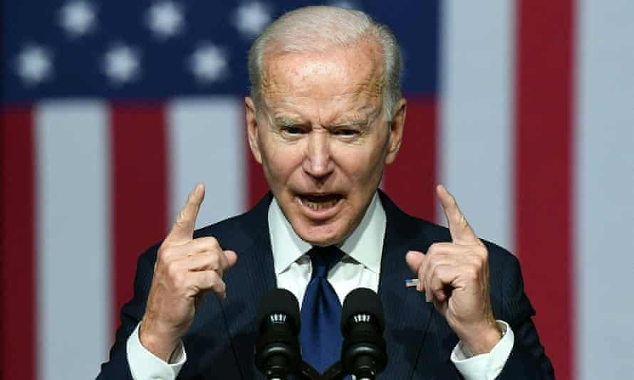 During his speech in Tulsa, Oklahoma, Joe Biden said he would 'fight like heck' to pass voting rights legislation.