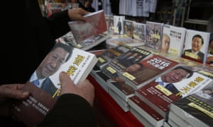 These books about the Chinese president Xi Jinping are banned on the mainland but on sale in Hong Kong.