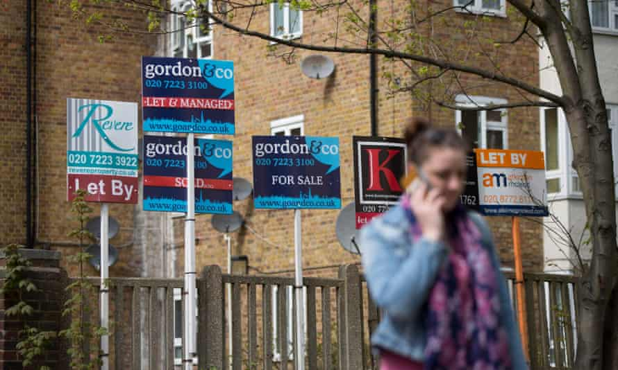Estate agents' for sale boards