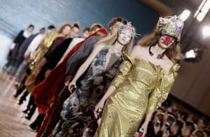 Models at Vivienne Westwood's show during London men's fashion week.