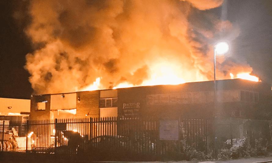 Fire at Chantry Place, Harrow, London.