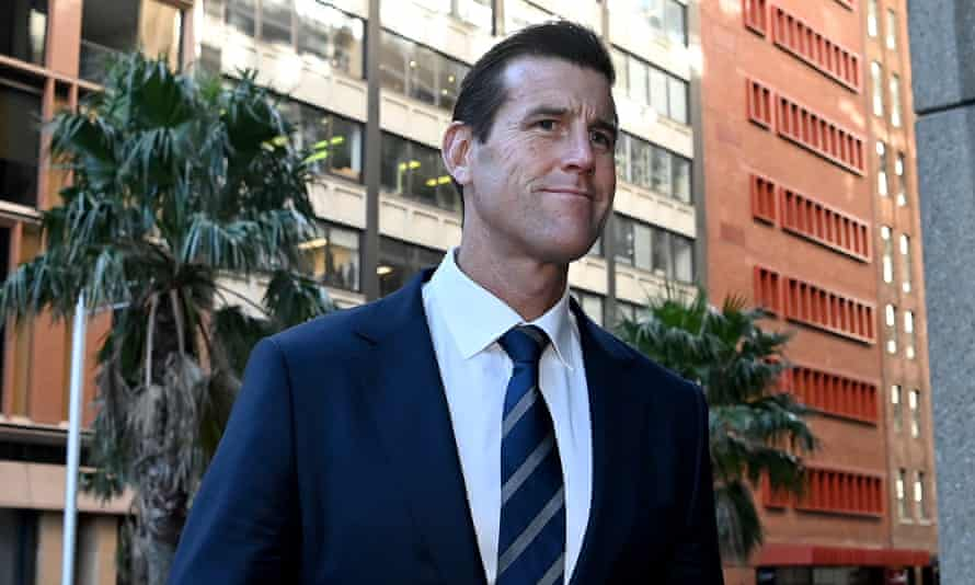 Ben Roberts-Smith arrives at the federal court in Sydney on Wednesday