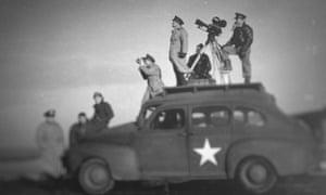 John Ford shoots one of his second world war-era flims.
