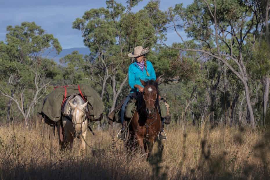 Alienor Le Gouvello on her journey along the Bicentennial Trail through the Australian bush.