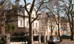Palace Gardens Terrace in Kensington, west London