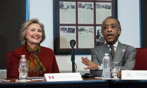 Hillary Clinton met with Al Sharpton and other civil rights leaders on Tuesday, a week after Bernie Sanders met with the reverend.