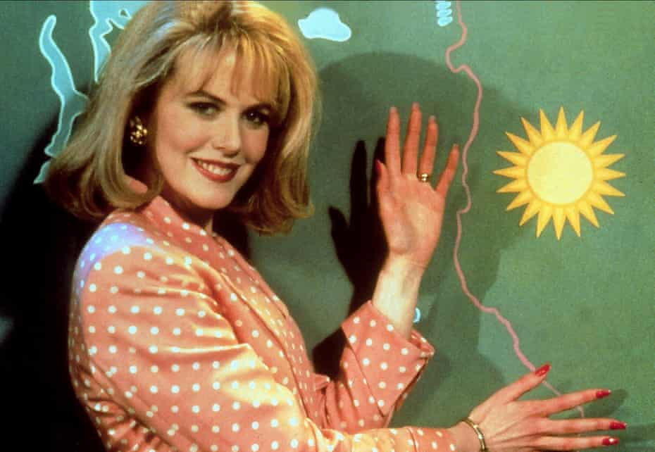Here's Suzanne with the weather ... Nicole Kidman in To Die For.