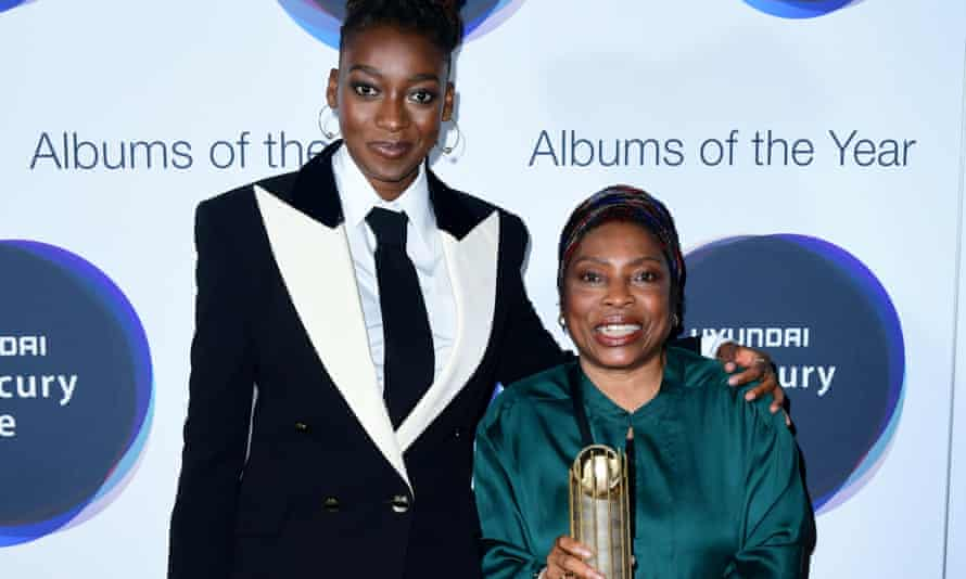 Little Simz and her mother during the Hyundai Mercury Prize 2019, held at the Eventim Apollo, London