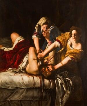 Judith Beheading Holofernes by Artemisia Gentileschi, c1612.