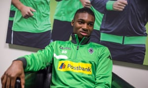 Mandela Egbo says of the regime at Borussia Mönchengladbach: 'We do a lot more double sessions, so they've installed rooms in the first-team changing rooms where players can sleep between sessions.'