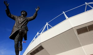 The statue of Bob Stokoe outside the Stadium of Light