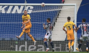 Dier heads the ball off his goal line