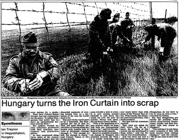 Snipping away at the Iron Curtain: when Hungary opened its