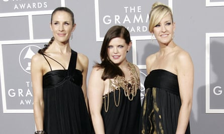 The Dixie Chicks at the Grammys in 2007; while they won an award, their core audience had turned against them.