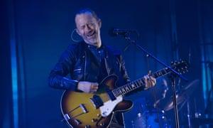 Restraint rules … Radiohead's Thom Yorke performing in Barcelona.