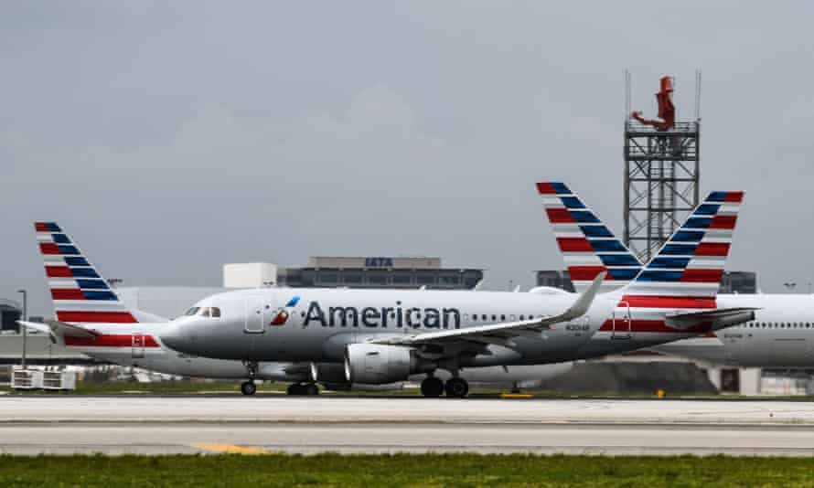 American Airlines planes taxi at Miami International Airport in Miami on 16 June, 2021.