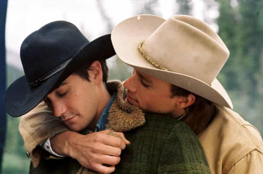 Jake Gyllenhaal and Heath Ledger in Brokeback Mountain (2005).