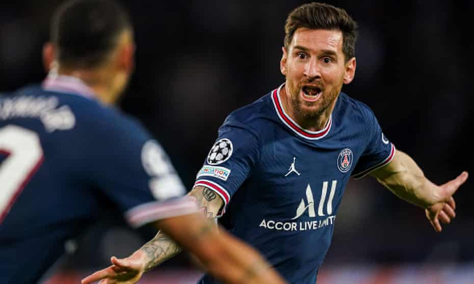 Lionel Messi after his spectacular goal for PSG sealed a 2-0 win against Manchester City.