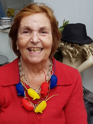 'A few years ago, she would have told me to fuck off' …Paula Rego with her mouse necklace.