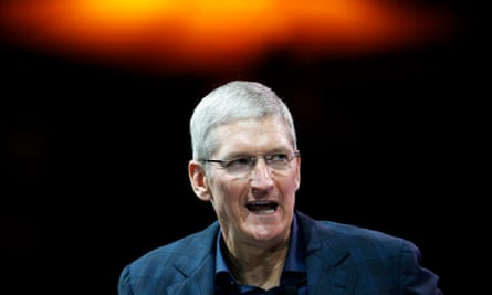 Apple CEO Tim Cook speaks at the WSJD Live conference in Laguna Beach, California.