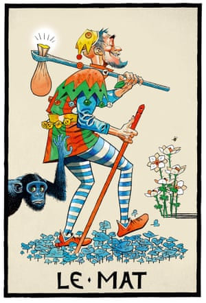 The Fool. Large-scale tarot card from the the series Tarot 2015