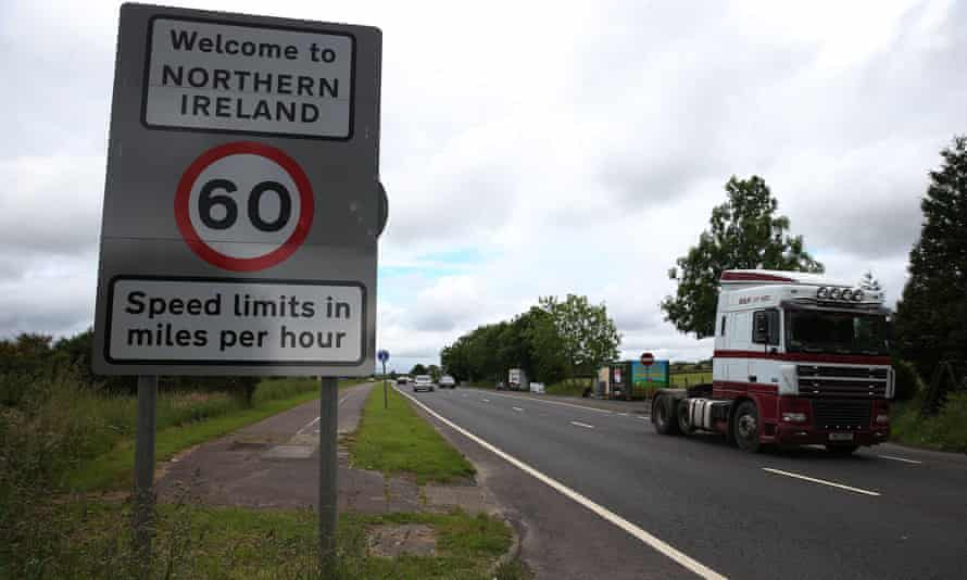 Border sign in Donegal