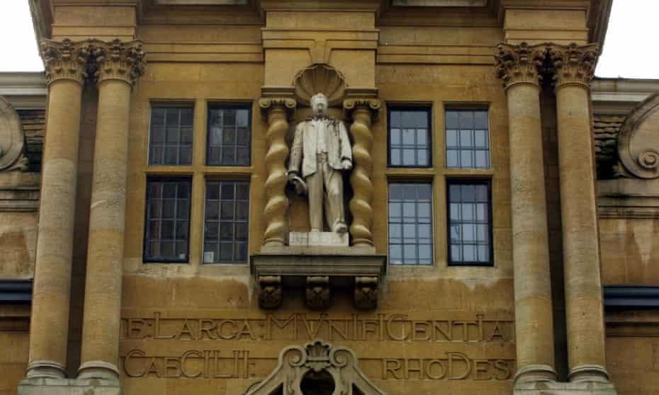 Cecil Rhodes statue, Oriel college, Oxford