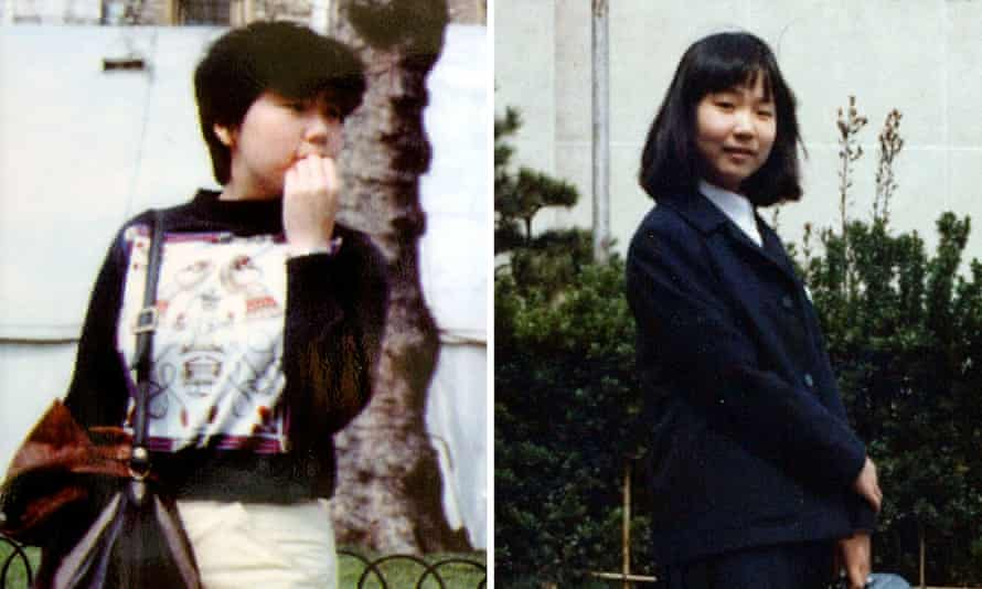 Keiko Arimoto (left) was tricked into flying to North Korea while Megumi Yokota was snatched aged 13.