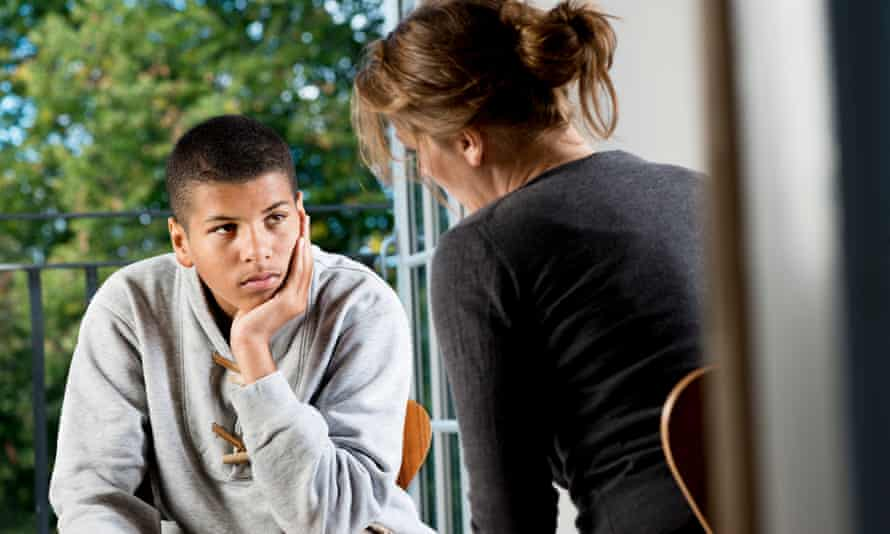 Teenager Talking To Counsellor