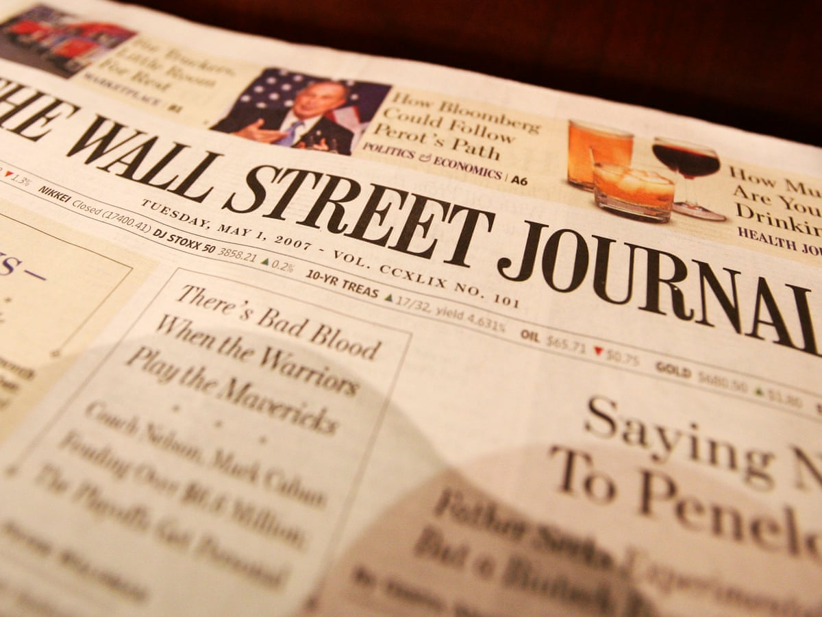 Wall Street Journal Stops Publishing Asian And European Print Editions Media The Guardian