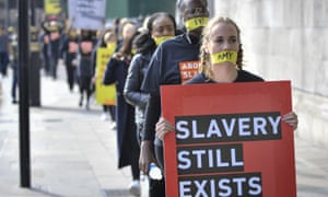 A protest against modern slavery