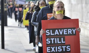 Anti-slavery march in London, October 2017